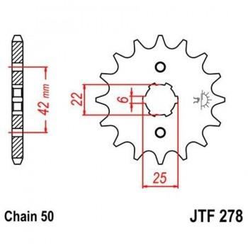 PIÑON JT 278K 16T 530