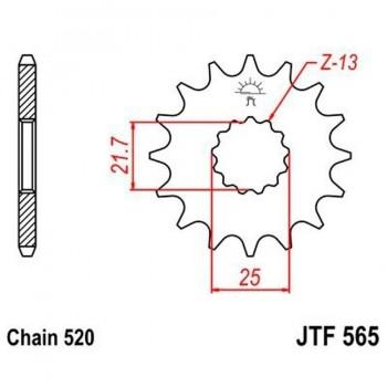 PIÑON JT 565K 12T 520
