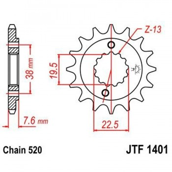 PIÑON JT 1041 14T  520