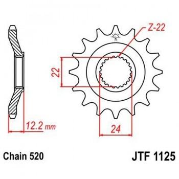 PIÑON JT 1125 16T  520