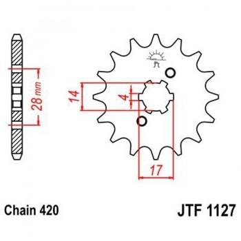PIÑON JT 1127 11T  420