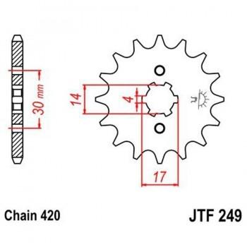 PIÑON JT 249 14T 420