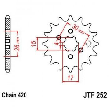 PIÑON JT 252 14T 420
