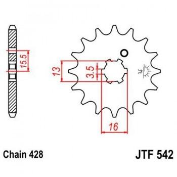 PIÑON JT 542 13T 428