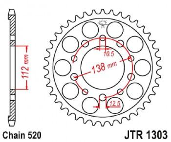 PLATO 1303 42T  520 SUPERSPROX RFE1303X43BLK