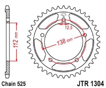 PLATO 1304K 42T  525 SUPERSPROX RFE1304X42BLK