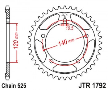 PLATO 1792K 43T  525 SUPERSPROX RFE1792X43BLK