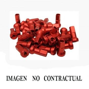 JUEGO DE TUERCAS DE RADIOS HAAN WHEELS ROJO 16 001/6    83024
