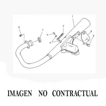 SOPORTE ESCAPE TURBO KIT MAXISCOOTER RECTO TROQUEL 4MM S19