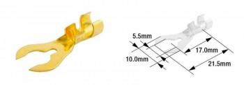 TERMINAL CABLE MACHO (BOLSA DE 100 UNIDADES) TOURMAX  5,5MM TIPO B-22  ETP-82   89001081