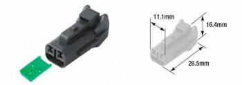 CONECTOR (BOLSA 5 UNIDADES) MACHO HERMÉTICO TOURMAX TIPO 060 (FRM)  ETP-96   89501063