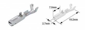 TERMINAL CABLE HEMBRA (BOLSA DE 50 UNIDADES) TOURMAX TIPO 070 (FRY)  ETP-73   89501070