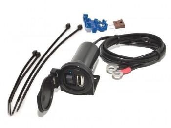 CARGADOR USB BAAS USB6 5V-12V IPX3, CABLE 1,2M CON FUSOR E INTERRUPTOR   20446