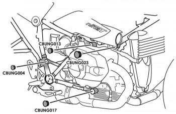 TAPONES CHASIS PUIG BMW R NINE T/PURE/RACER/URBAN 9664N